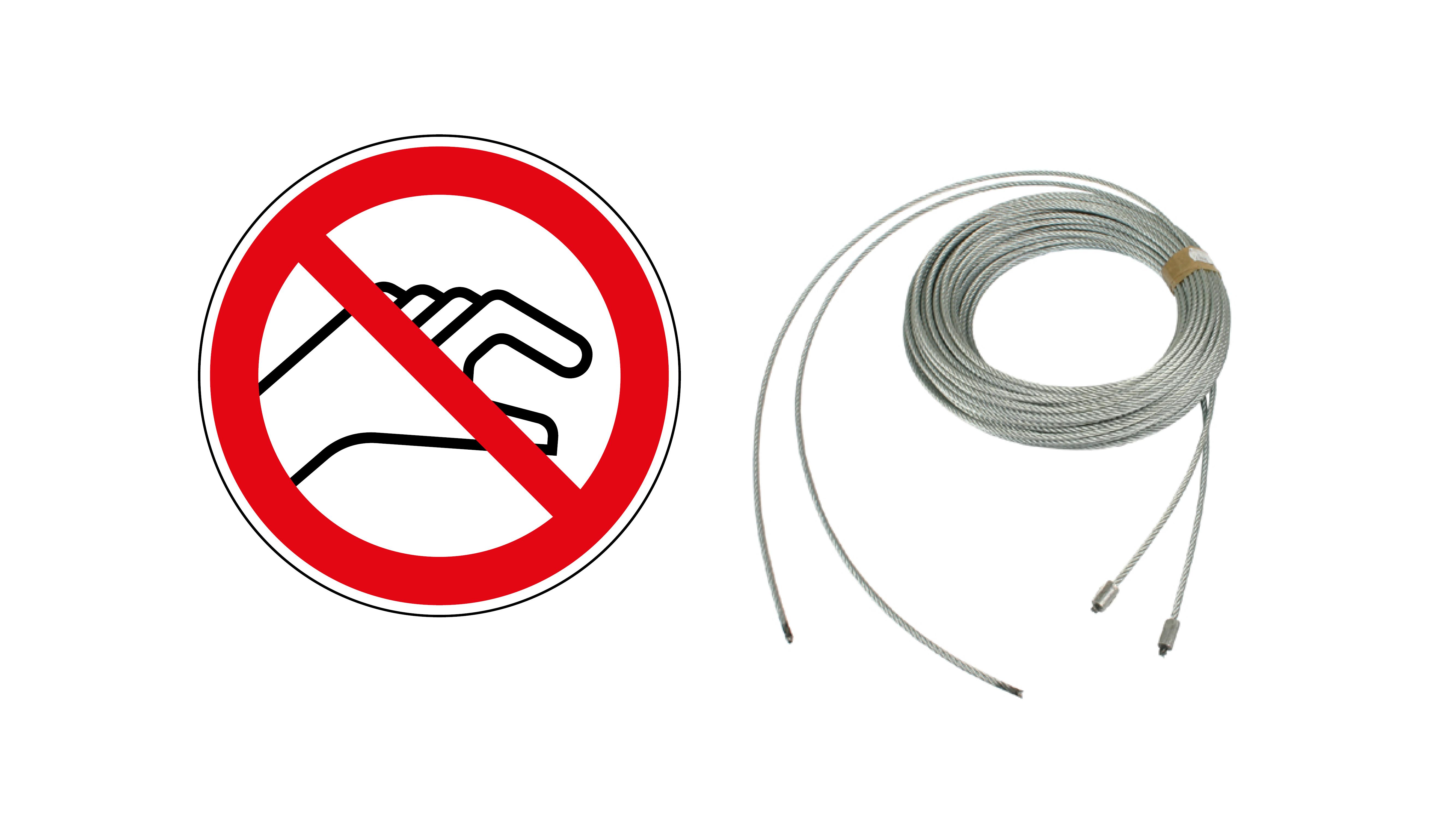 Sektionaltore » Warum außenliegende Seile zur Gefahr werden können